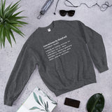 Consciously Funded Definition Unisex Sweatshirt