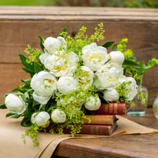 Love Delivered White Peonies