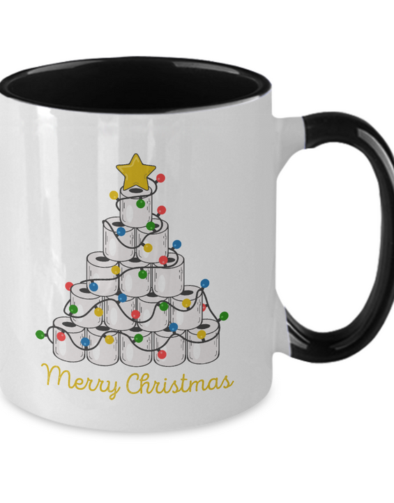 Merry Christmas Toilet Paper Tree - Coffee Mug