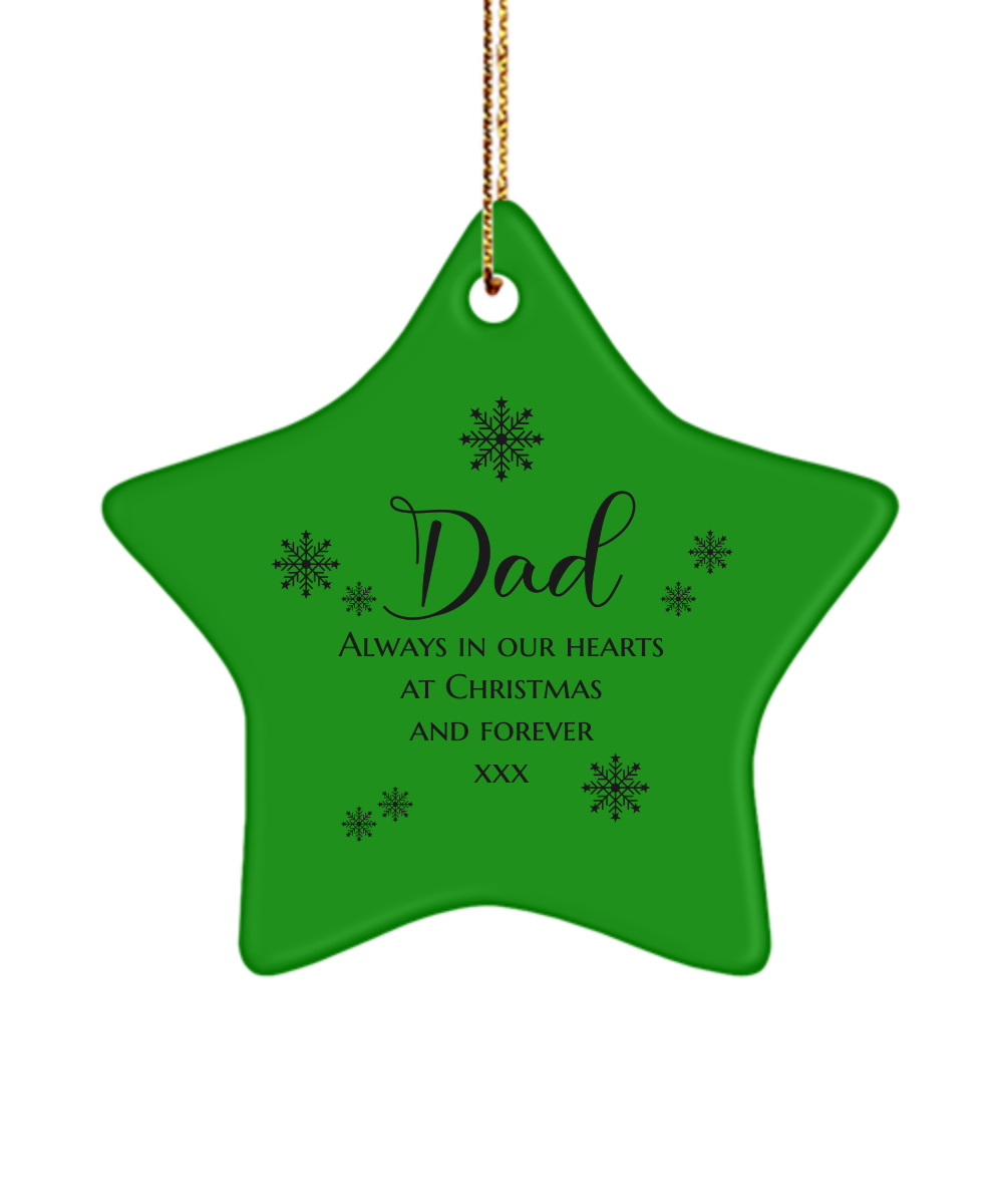 Dad - Always in Our Hearts - Ornament