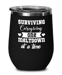 Surviving Caregiving One Meltdown At a Time - Wine Glass
