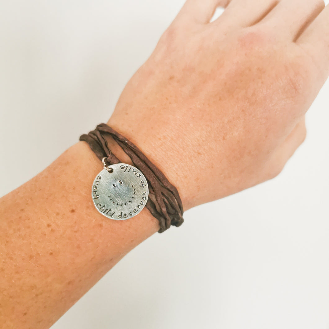 Every Child Deserves to Smile Bracelet - ID: 124010, Brown