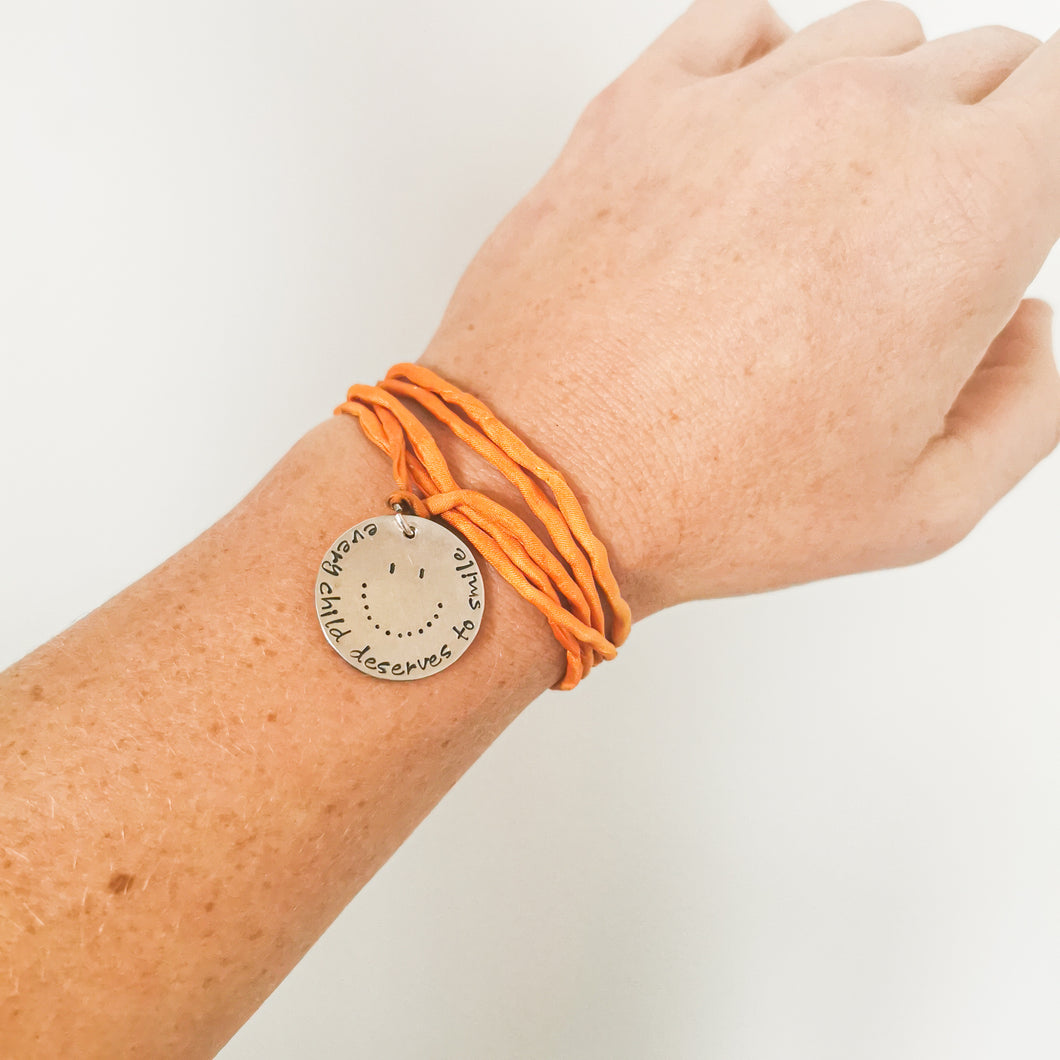 Every Child Deserves to Smile Bracelet - ID: 124008, Orange