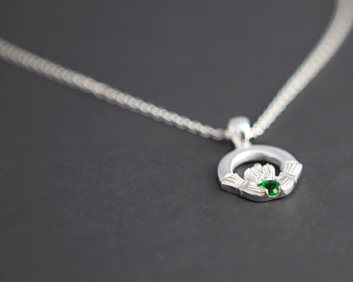 birthstone p ls larger photo pendant claddagh email silver htm ladies