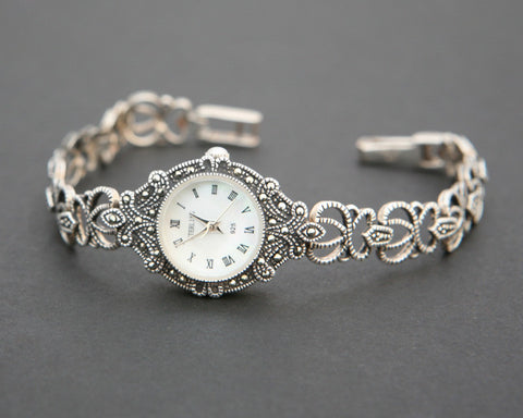 Marquasite Sterling Silver Watch
