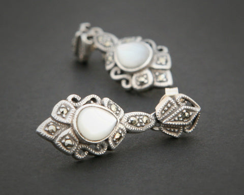 Moonstone Marquisite Earrings