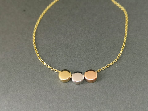 3 Colour gold necklet