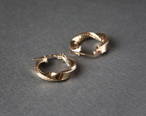 Gold Hoops small