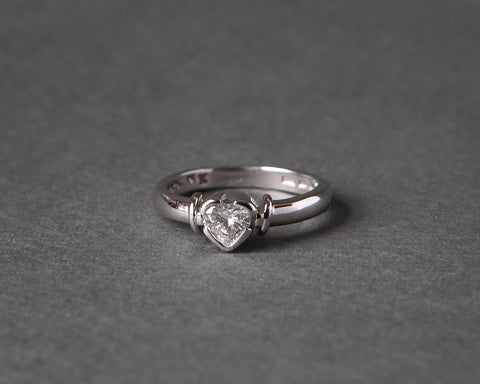 Heart Shape Engagement Ring