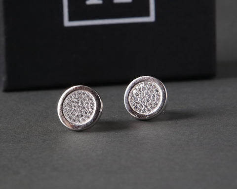 Round Stoneset Stud Earrings