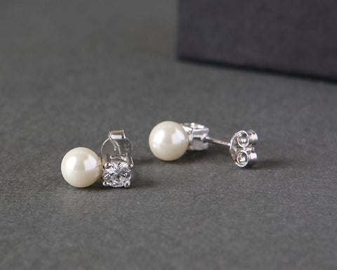 Pearl and Cubic Zirconia Studs