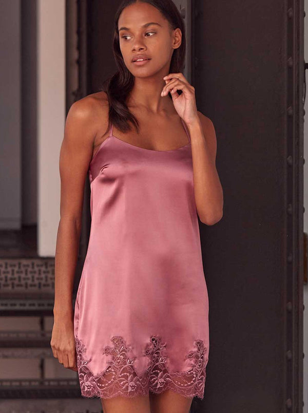 Bisou Silk Chemise - Winter Plum