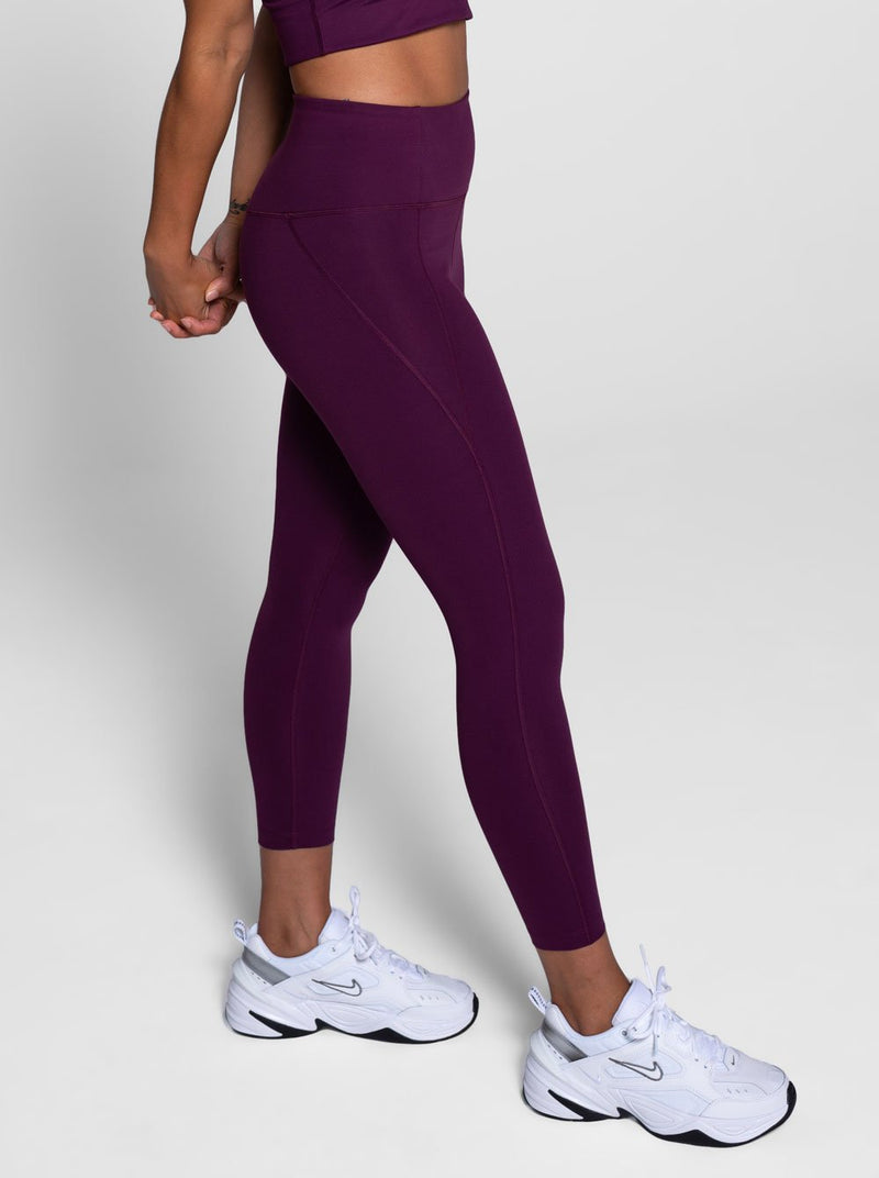 Compressive 7/8 Leggings - Plum