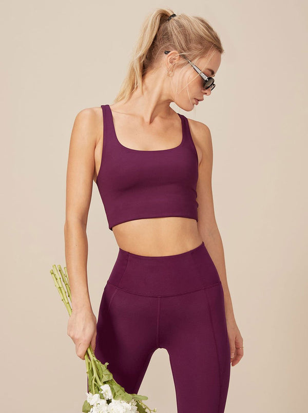 Paloma Sports Bra - Plum