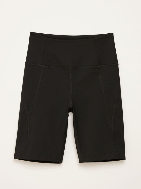 High-Rise Bike Shorts - Black