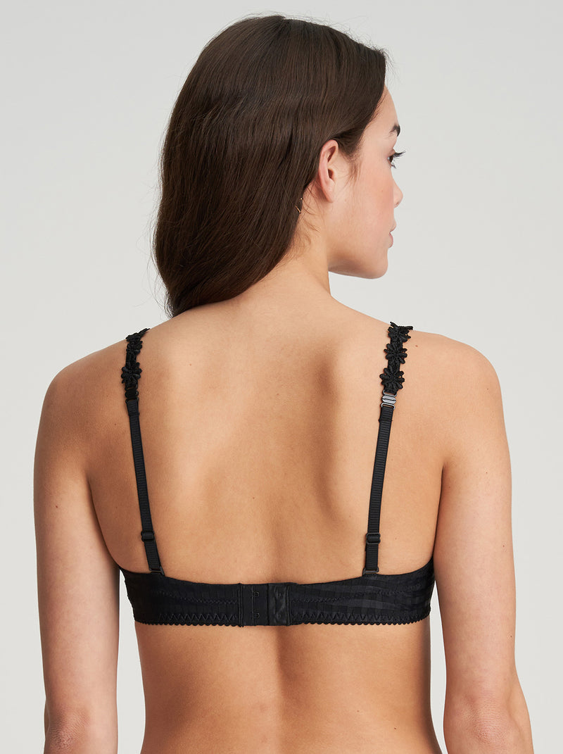 Avero Padded Heart Shape Bra - Black