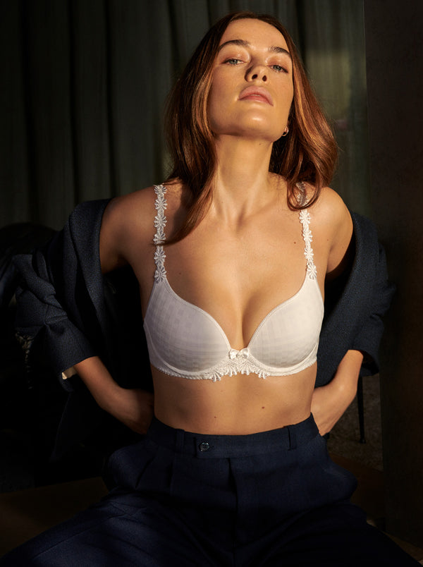 Avero Padded Heart Shape Bra - White