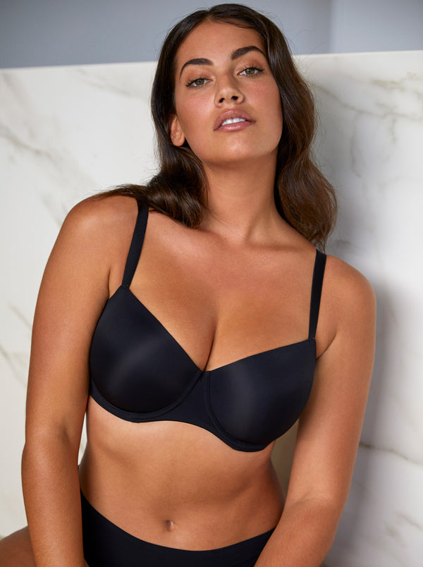 Prima Donna Figuras underwired balcony T-shirt bra in Black
