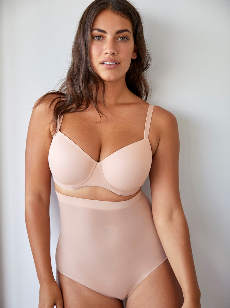 Prima Donna Figuras underwired balcony T-shirt bra in Powder Rose