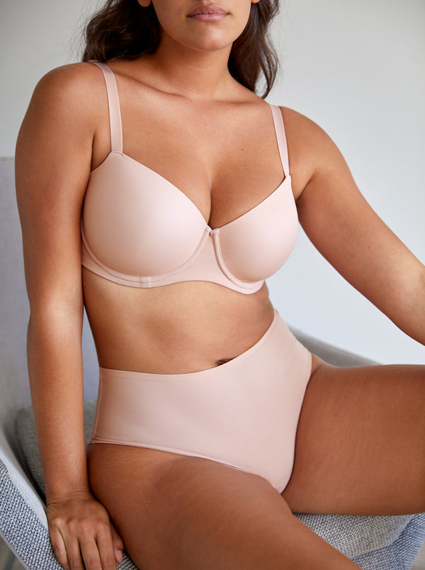 Figuras Seamless Full Briefs - Powder Rose