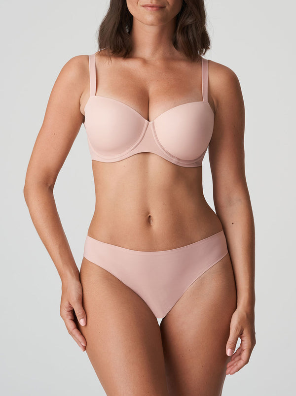 Prima Donna Figuras seamless mid-rise thong in Powder Rose