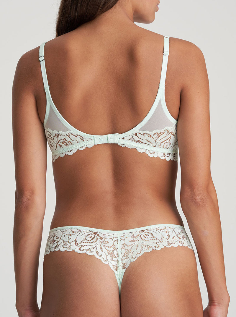 Marie Jo Elis lace-trimmed underwired balcony bra in Spring Blossom