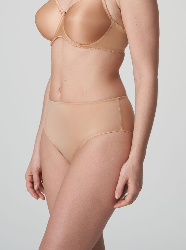 Satin Seamless Full Briefs - Caffe Latte