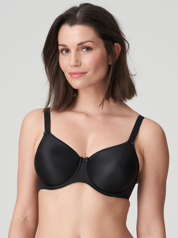 Satin Seamless Bra - Black
