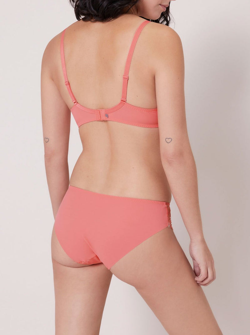 Wish Full Cup Plunge Bra - Coral