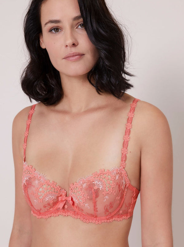 Wish Balcony Bra - Coral