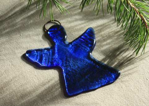 Dark Blue Glass Angel
