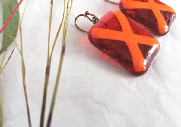 Glass Drop Earrings - Vitamins of Joy - VAU27