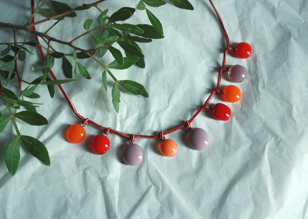 Glass Necklace - Vitamins of Joy - VKR3