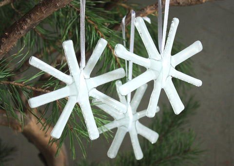 White Glass Star