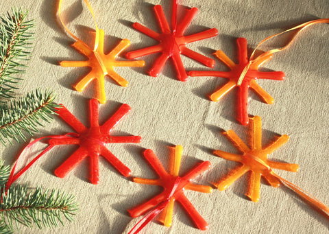 Bright Glass Star in Orange and Yellow Tones