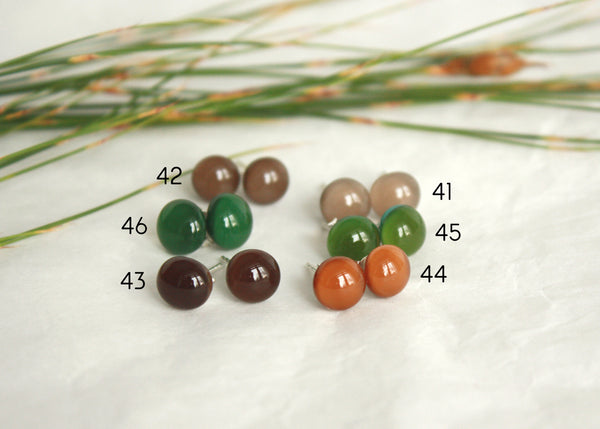 Stud Earrings - Classics - Brown, Green and Other Colours