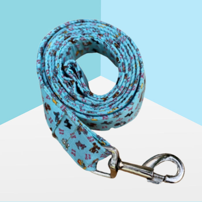 Bow Wow Print Quirky Collar & Leash Set