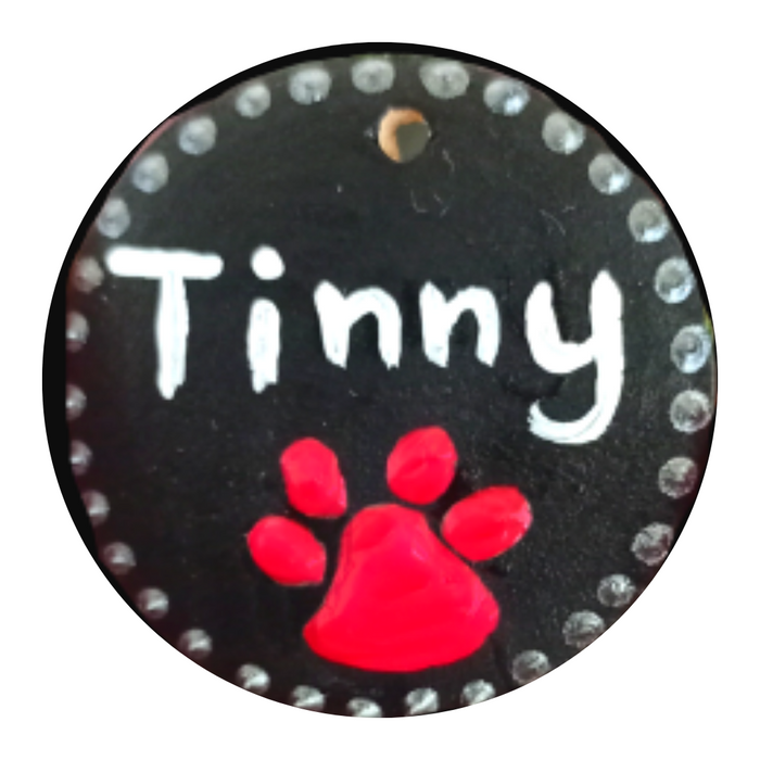 Hand Painted Pet Name Tags