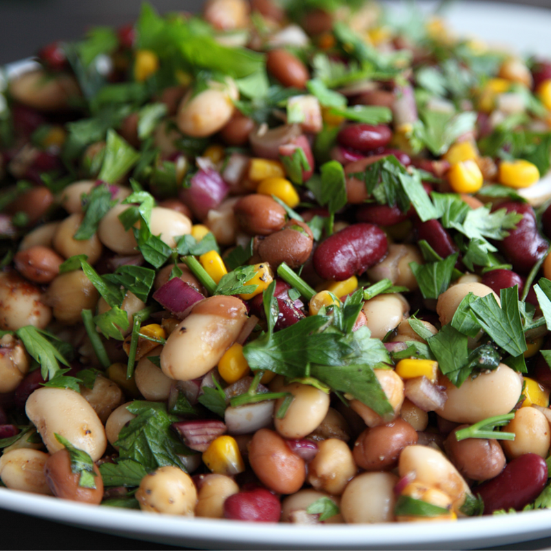 Mixed Bean Salad (Vegan)