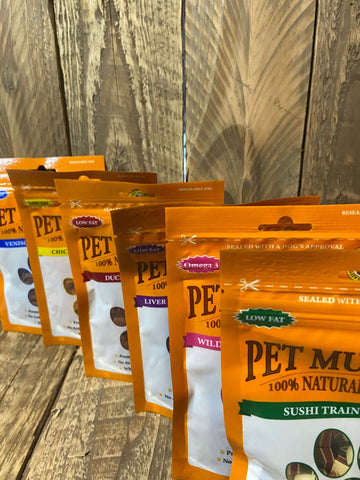 pet munchies training treats range