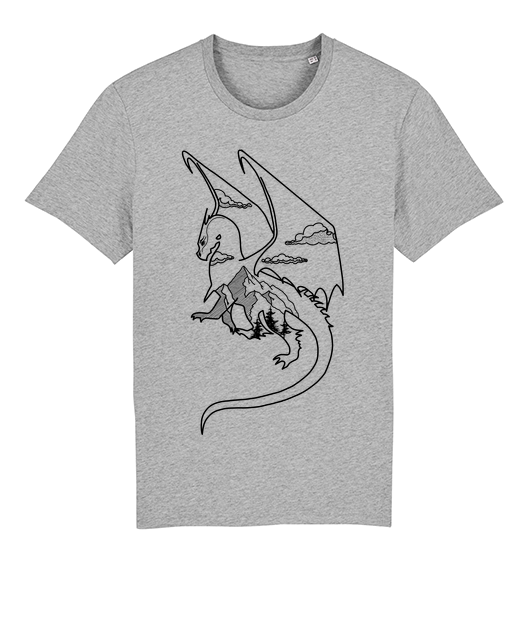 Dragon T-shirt 100% bio Gris