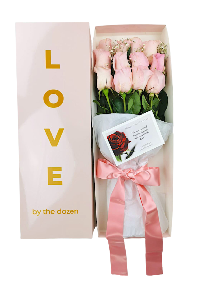 Love By The Dozen Roses Pink