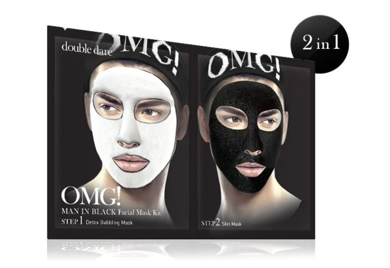 Double Dare OMG! MAN IN BLACK FACIAL MASK KIT