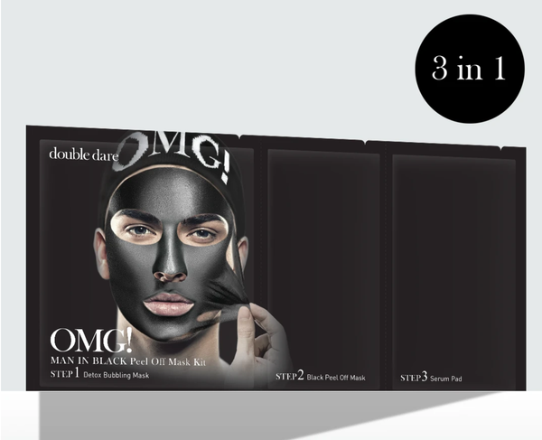 Double Dare OMG! MAN IN BLACK PEEL OFF MASK KIT