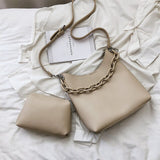Fashion Shoulder Leather Bag with Chain