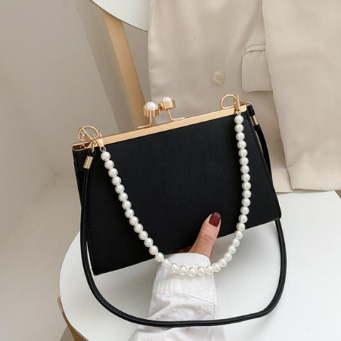 Luxury Pearl Handle Handbag