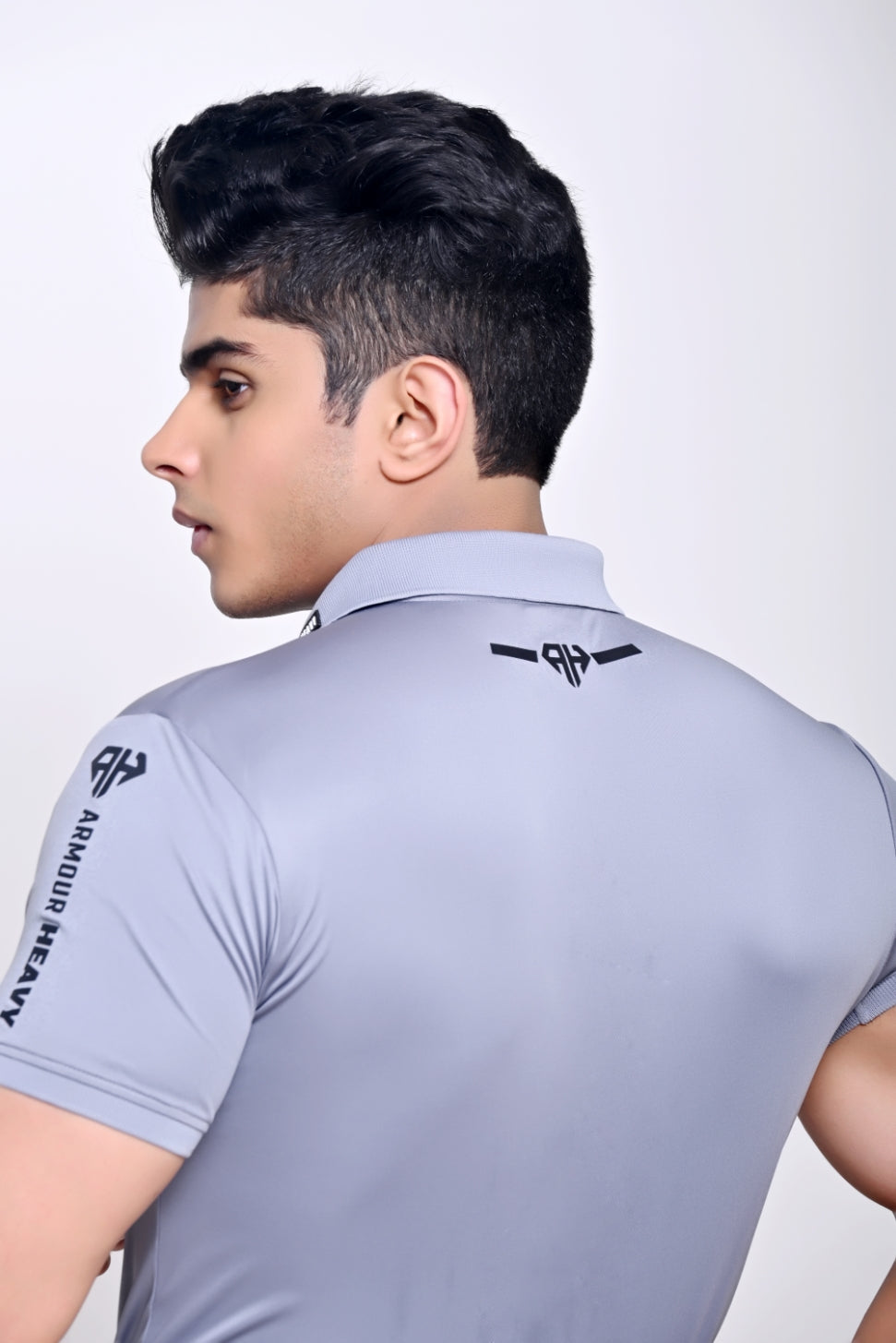 AH MAN - SOLID PERFORMANCE POLO SHIRT GREY