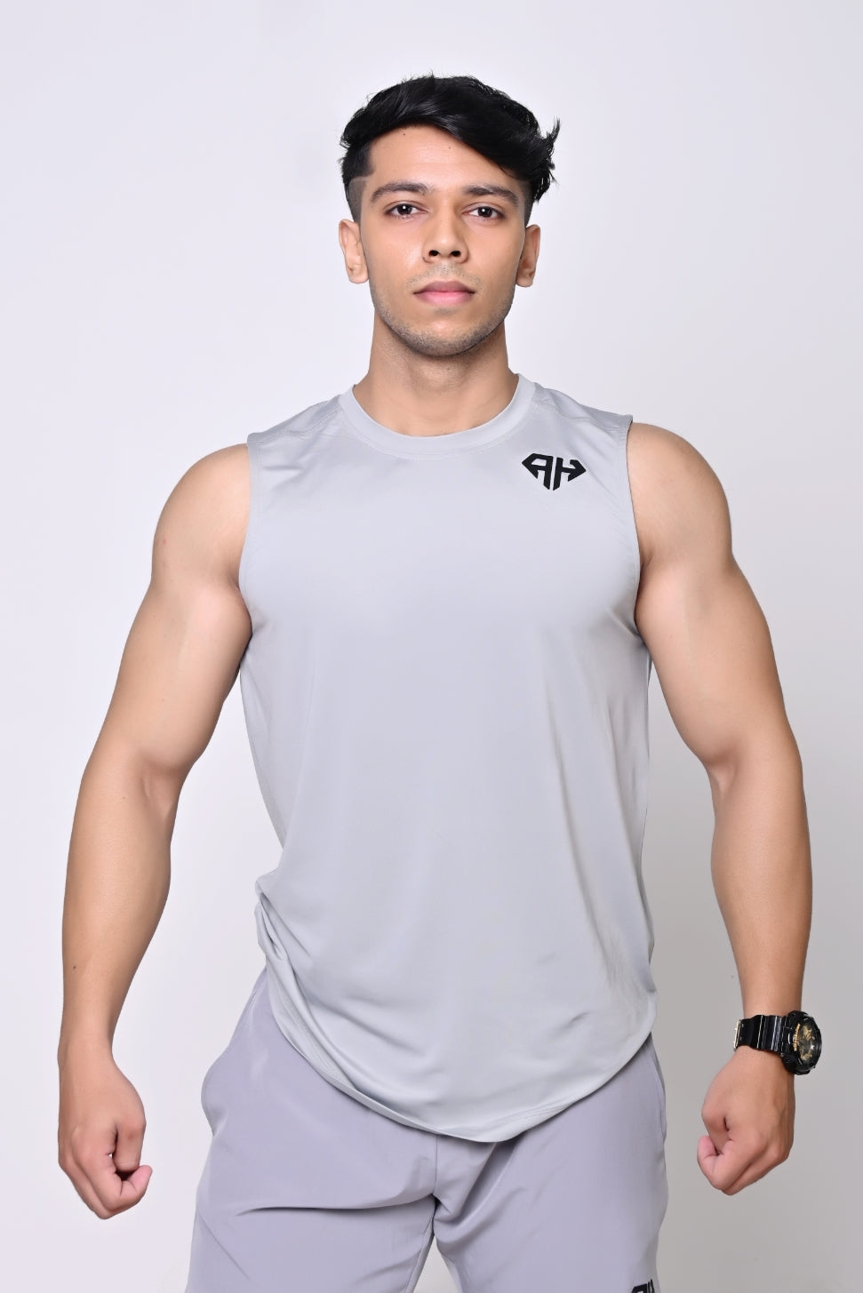 AH GYM VEST - MAN- LIGHT GREY