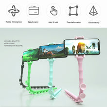 Load image into Gallery viewer, Suction Cup Lazy Phone Holder Caterpillar Cell Phone Holder Desktop Flexible Worm Car Mount Home Cute Phone Wall Bracket Bicycle