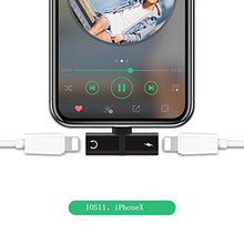 Load image into Gallery viewer, Gourde Headphone Lightnig Audio Charger Adapter 2 in 1 For iPhone 7/ 7 Plus Compatible iOS 10.33&iOS11 For iPhone X 8 / 8plus